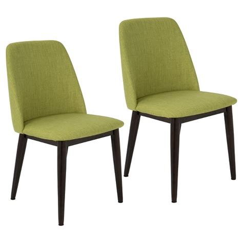 Green Dining Room Chairs Tintori Mid Century Modern Dining Chair Set Of 2 Green Lumisource Target