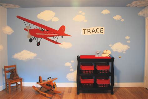 airplane room decor traditional bedroom with airplane theme space for tweens tots kid