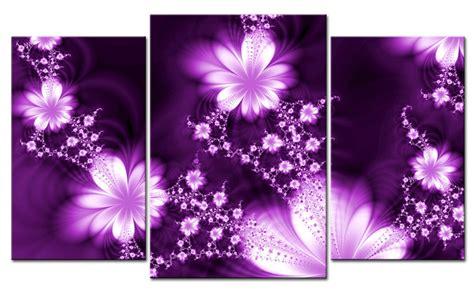 purple printable wall art giclee canvas print flower fly purple modern art 3 parts