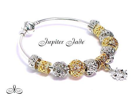 authentic pandora silver charm bracelet authentic pandora 925 silver bangle charm bracelet gold