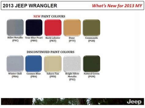 new colors for 2013 jeep maybe