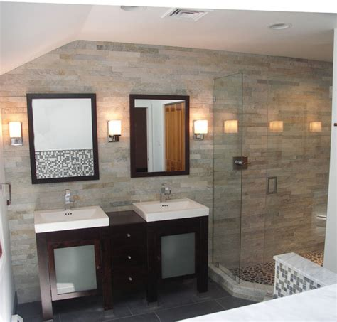 bathroom cladding ideas stone cladding in bath contemporary bathroom