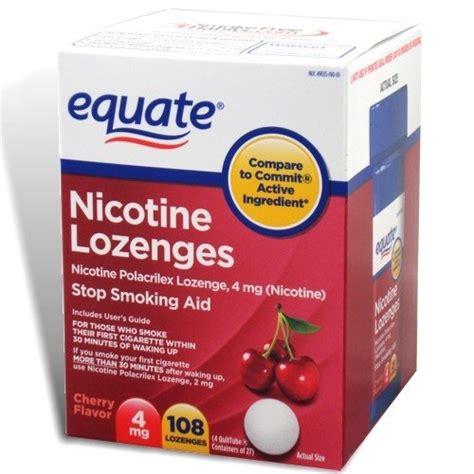 Detox From Nicotine Lozenges equate nicotine lozenge 4 mg stop aid cherry