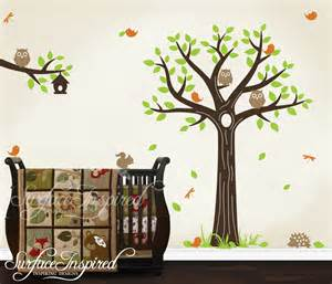 Nursery Wall Tree Decals Wall Decal Nursery Tree Decal With Animals By Surfaceinspired