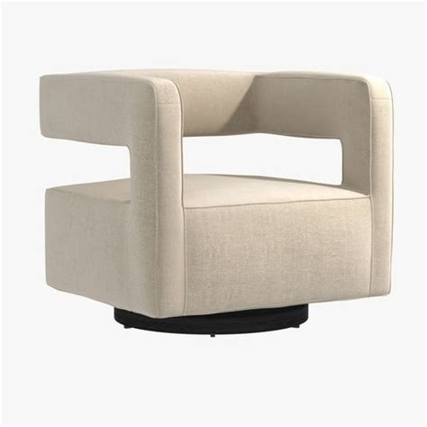 nico swivel chair nico return swivel chair by mitchell gold bob williams 3d