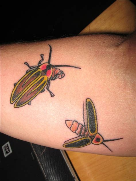 lightning bug tattoo lightning bug firefly insect