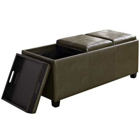 extra large ottoman trays wyndenhall franklin extra large rectangular storage