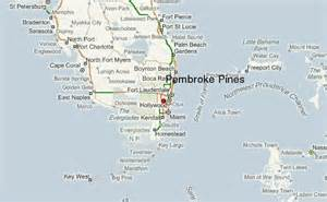 map of pembroke pines florida pembroke pines location guide