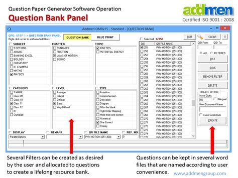 Or Question Bank Question And Answer Software Question Answer Paper Software