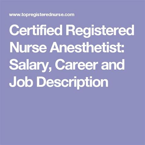 Certified Registered Anesthetist Resume Best 25 Registered Description Ideas On Nursing Quotes Definition