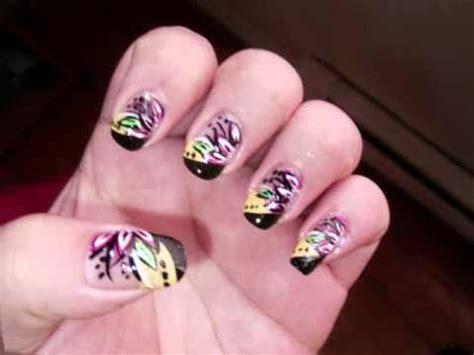 imagenes de uñas pintadas con esmalte decoracion de u 241 as con esmalte youtube