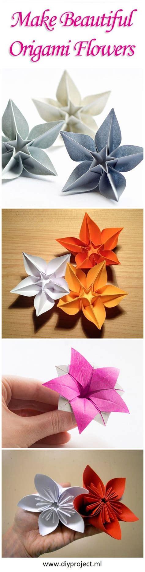 Single Sheet Origami Flower - fleurs en origami origami and fleur on