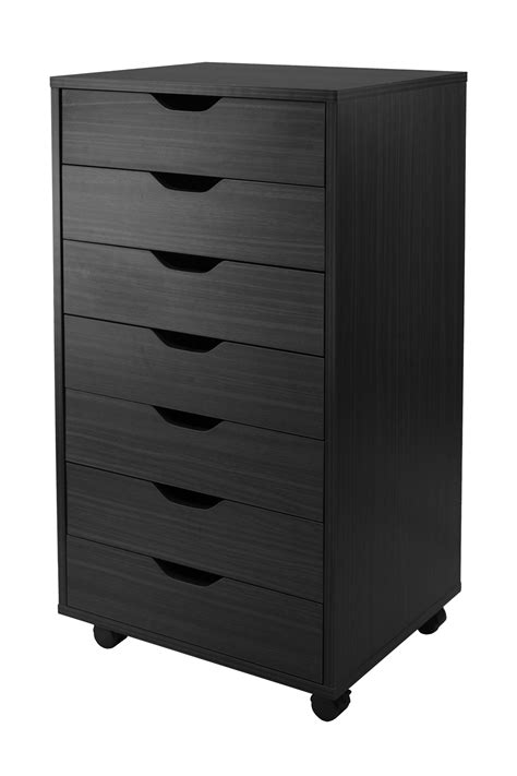 black wood storage cabinet winsome halifax wooden closet storage cabinet with 7 drawers black ebay