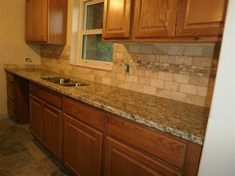 kitchen with tile backsplash santa cecilia granite backsplash ideas