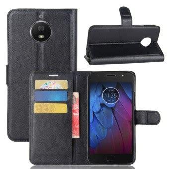 Flip Wallet Moto G5s Plus Flip Cover Leather Flip Cover Moto G5s jual leather flip cover phone wallet card holder for motorola moto g5s plus black intl