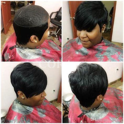 black hairstyles real hair 2017 new pixie cut cheap real hair wig rihanna black short