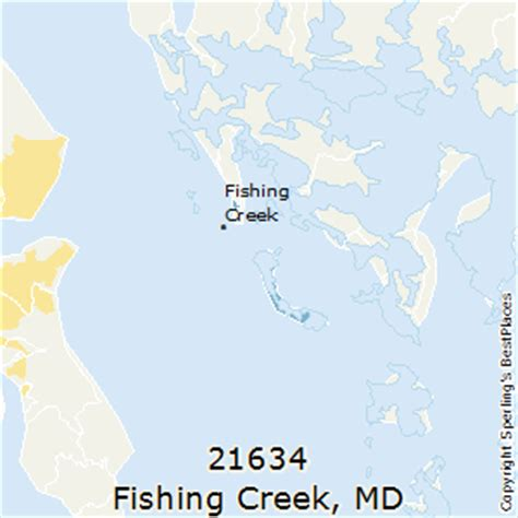 maryland fishing map best places to live in fishing creek zip 21634 maryland