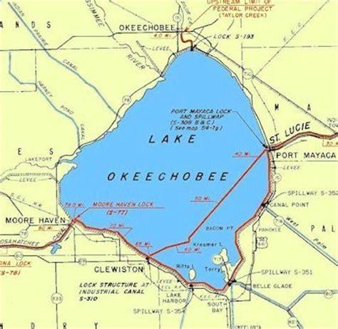 lake okeechobee florida map lake okeechobee or simply the big o in a zone of its own