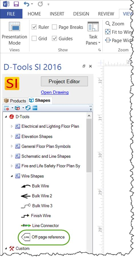 visio user guide page reference d tools