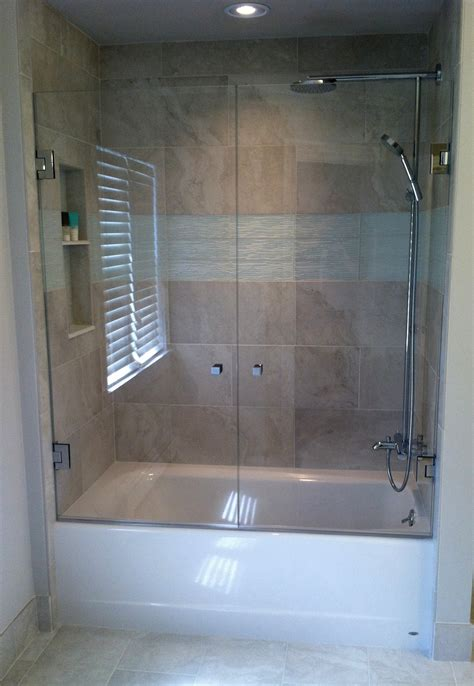 Shower Door Tub Bathroom Beautiful Frameless Bathtub Enclosures 52 Frameless Glass Shower Doors Amazing