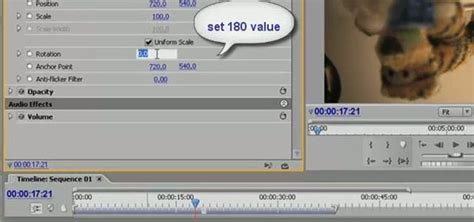 adobe premiere pro rotate video how to rotate video clip 180 degrees with adobe premiere