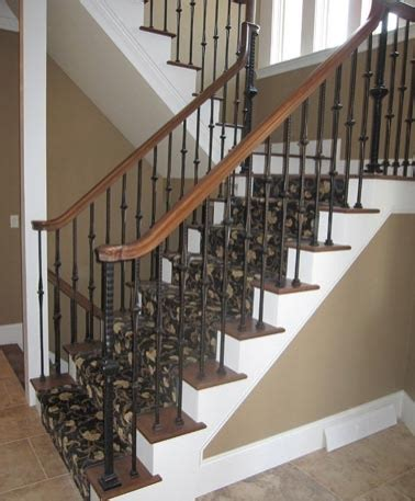 Residential Stairs Design Residential Staircase Rear Access Switchback Staircase Iron Newels