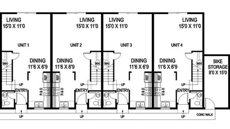 fourplex floor plans fourplex floor plans house plans
