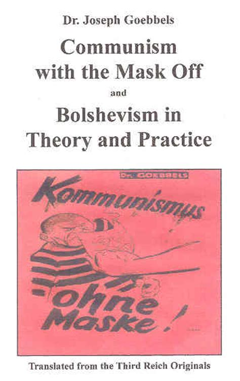 communism with the mask and bolshevism in theory and practice books national socialist conservative book store nsm88