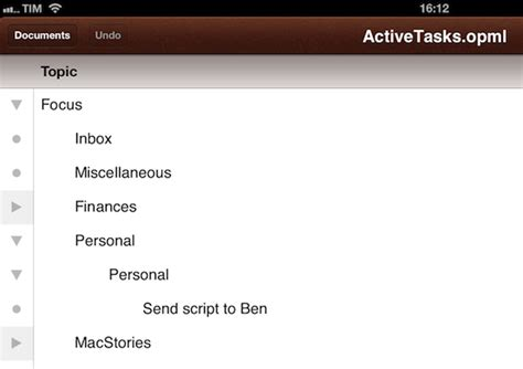omnioutliner templates visualize omnifocus as ithoughts map opml or plain text
