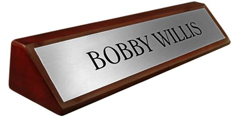 What Is The Word For Desk by Rosewood Piano Finish Desk Name Plate Metal Brushed