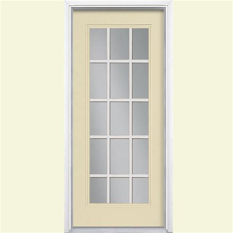 Masonite 32 In X 80 In 15 Lite Painted Steel Prehung Front Steel Doors