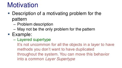 sentence pattern motivation l03 design patterns