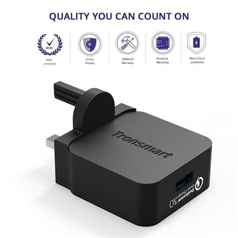 Aukey 36w Travel Size Fast Rapid Usb Wall Charger Dual Port Eu P tronsmart 18w wc1t charge 3 0 usb wall charger for galaxy s7 note 7 htc 10 lg g5