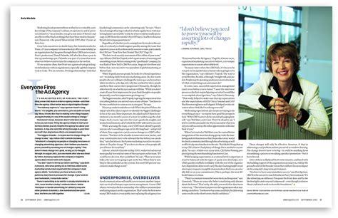 magazine sections names cmo magazine on behance