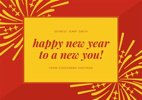 Customize 917  New Year Card templates online   Canva