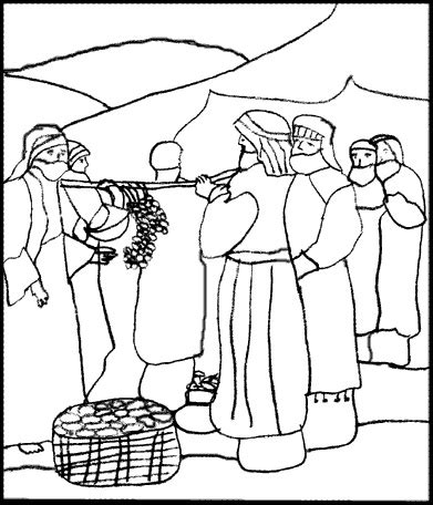 12 spies of canaan coloring page coloring pages