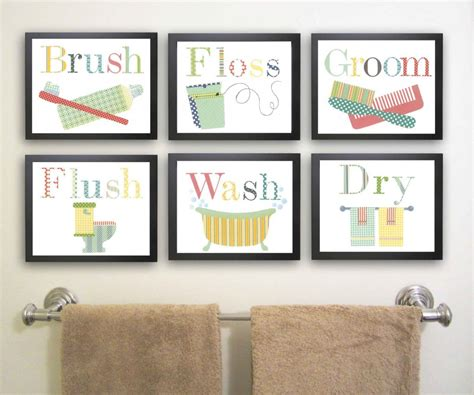 framed bathroom wall art wall art design ideas brush floss bathroom decor wall art
