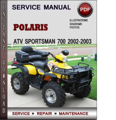 polaris atv sportsman 700 2002 2003 factory service repair