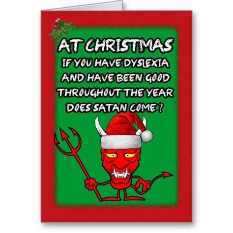 funny dyslexic christmas cards funny dyslexic satan
