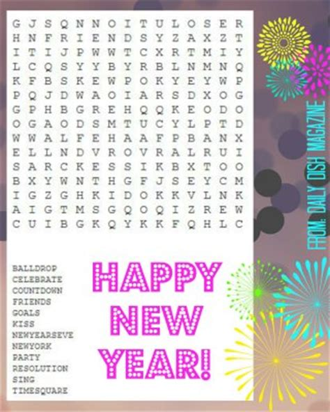 new year word search printable 6 best images of free new year word search printable new