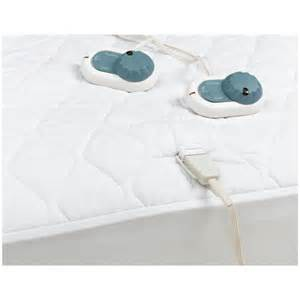 sunbeam heated electric mattress pad 140 thread size
