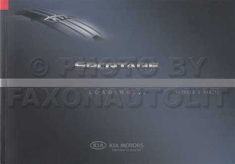 2007 Kia Sportage Owners Manual by 2007 Kia Sportage Owners Manual Original