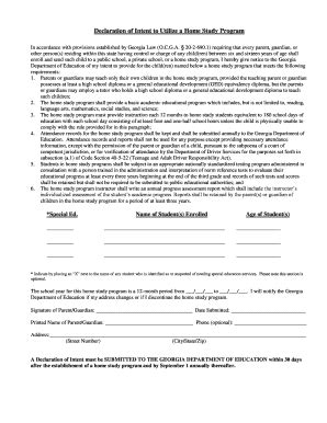 Letter Of Intent To Homeschool Form Letter Of Intent Homeschool