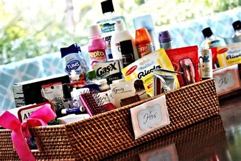Wedding Bathroom Basket Essentials Wedding Bathroom Basket Wedding Guests Restroom