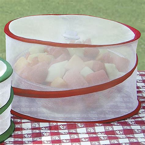 Mesh Food Cover collapsible mesh food covers set of 3 in picnic
