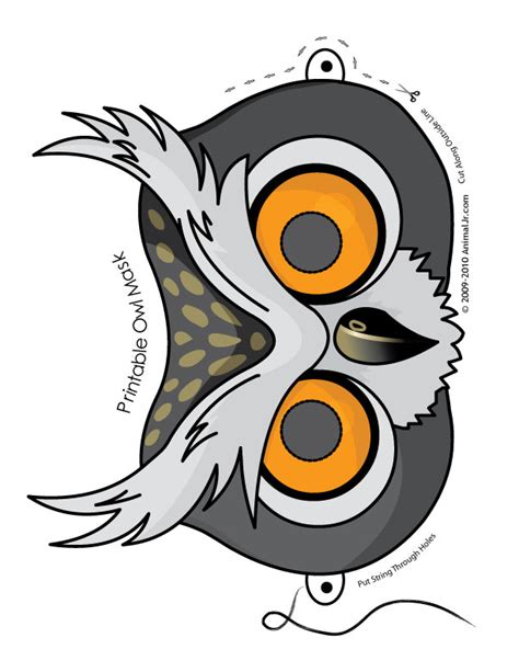 printable halloween owl printable owl mask woo jr kids activities