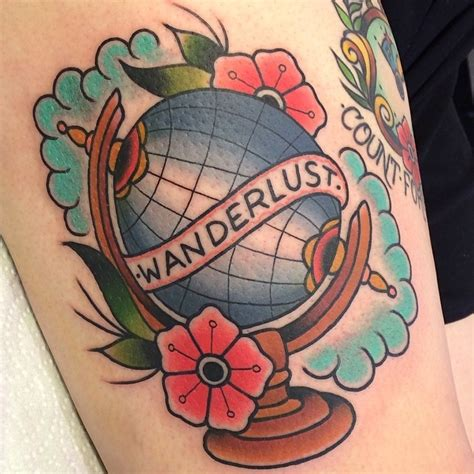 traditional globe tattoo globe is not a simple map best ideas gallery