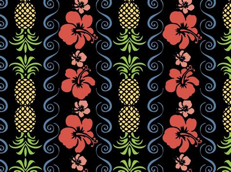 hawaiian pattern vector free tropical pattern vector vector art graphics freevector com