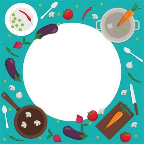 imagenes vectores cocina fondo colorido de cocina con un marco redondo descargar