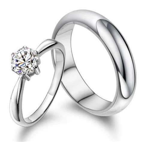 Palladium 50 Satuan cincin kawin dunya bahan palladium 50 sepasang cincin
